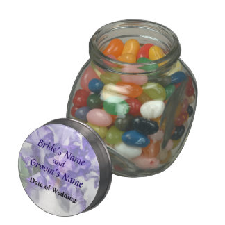 Classic Look Iris Closeup Wedding Products Jelly Belly Candy Jars