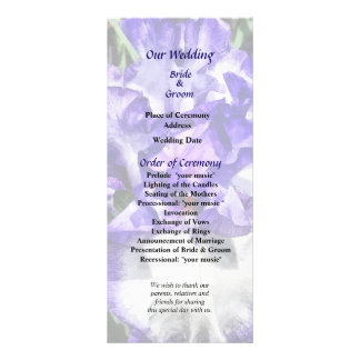 Classic Look Iris Closeup Wedding Program