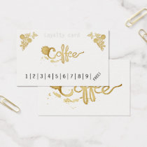 Classic loyalty coffee punch card
