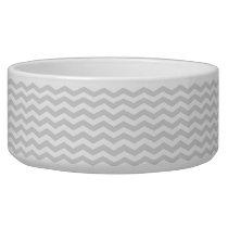 Classic Lt Gray White Thin Chevron Zig-Zag Pattern Bowl