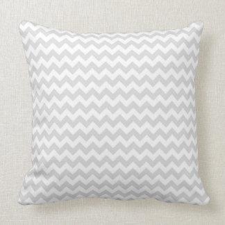 Classic Lt Grey Wht Thin#2 Chevron Zig-Zag Pattern Throw Pillow