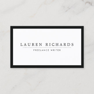 Classic Luxe Black and White with Social Media Business Card