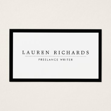 1201am Classic Luxe Black and White with Social Media Business Card