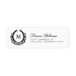Classic Luxe Monogram Return Address Labels