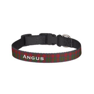 Classic MacIntosh Tartan Plaid Custom Dog Collar