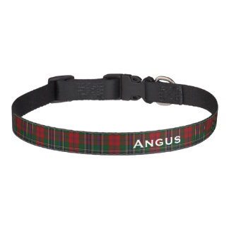 Classic MacLean Tartan Plaid Custom Dog Collar