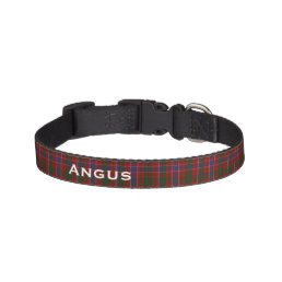 Classic MacRae Tartan Plaid Custom Dog Collar