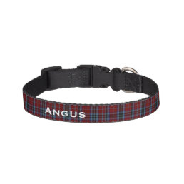 Classic MacTavish Tartan Plaid Custom Dog Collar