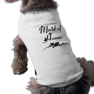 Classic Maid Of Honor Dog T-shirt