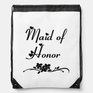 Classic Maid Of Honor Drawstring Backpack