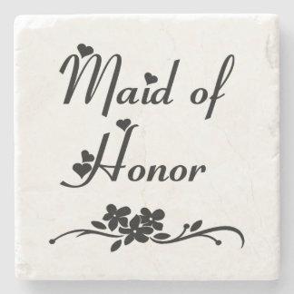 Classic Maid Of Honor Stone Coaster