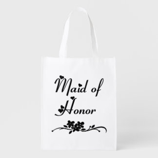Classic Maid Of Honor Grocery Bag