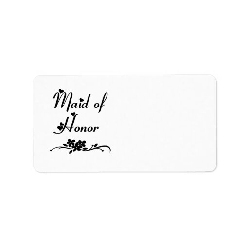 Classic Maid Of Honor Label
