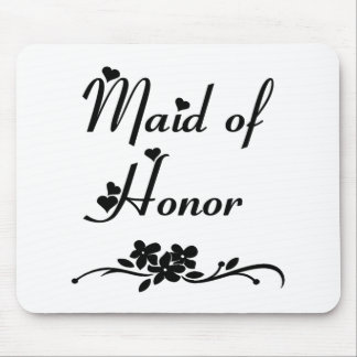 Classic Maid Of Honor Mouse Pad