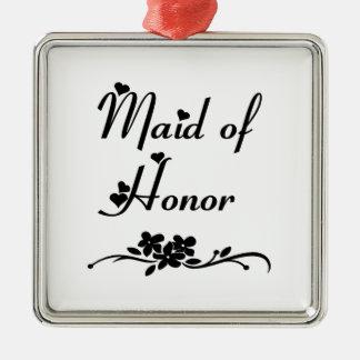 Classic Maid Of Honor Ornaments