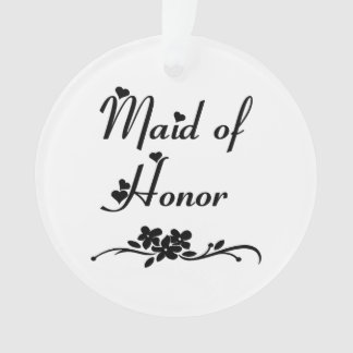 Classic Maid Of Honor Ornament