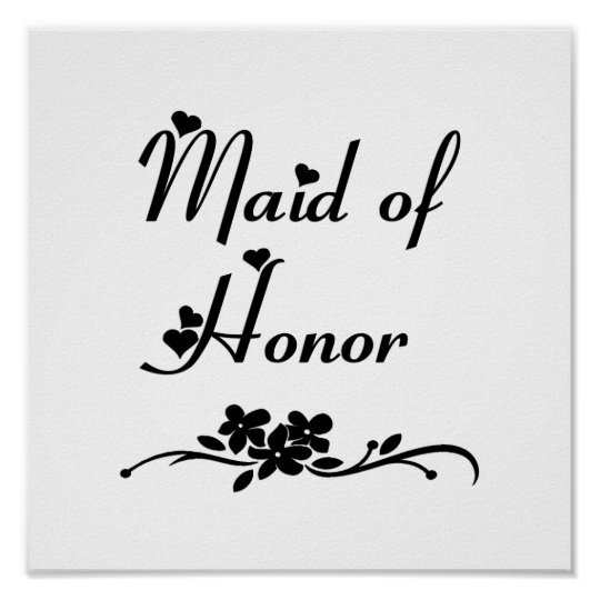 Classic Maid Of Honor Poster