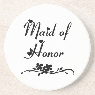 Classic Maid Of Honor Sandstone Coaster
