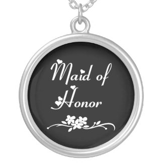 Classic Maid Of Honor Silver Plated Necklace