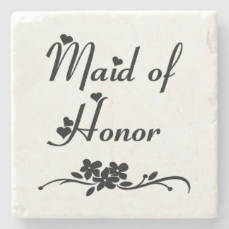 Classic Maid Of Honor Stone Coaster