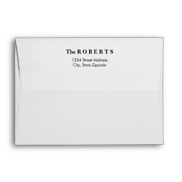 Professional Business Classic Mailing Envelopes with Return Address