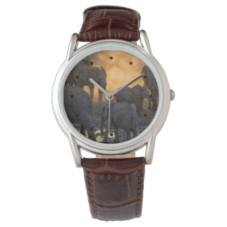 Classic Man's Safari Timepiece with Elephants Watch