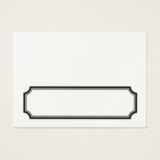 Classic Mansard Border Fold Your Own Placecards Business Card