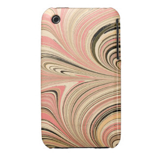 Classic Marbleized Endpaper Pink iPhone 3 Case