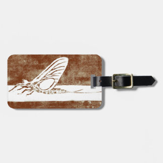 """Classic """"March Brown"""" May Fly Luggage Tag"""