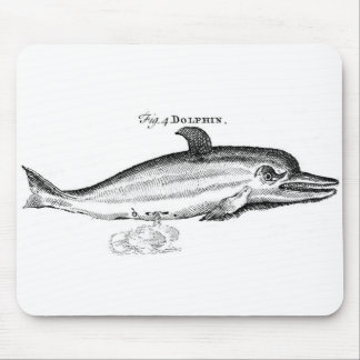 Classic Marine Etching - Dolphin Mouse Pad