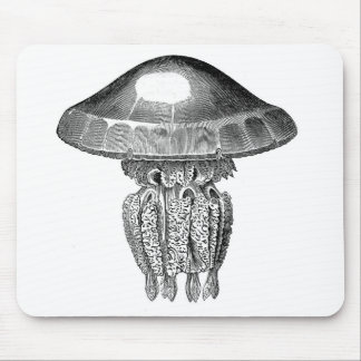 Classic Marine Etching - Jellyfish Mouse Pad