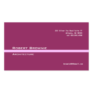 Classic Maroon Pink Line Business Card