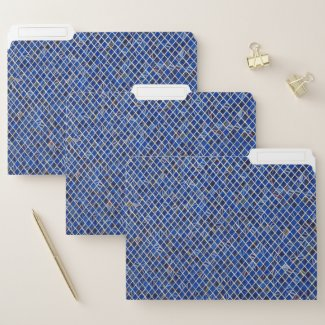 Classic Marrakech Design in Blue File Folder