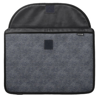 Classic Masculine Blue Gray Checkered Squares MacBook Pro Sleeves
