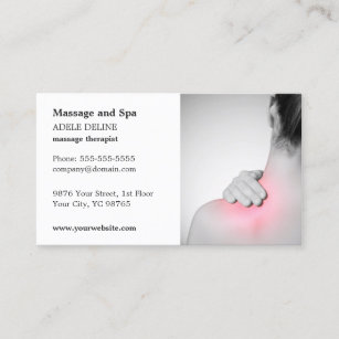 Osteopath business cards zazzle classic massage therapist business card template wajeb Image collections