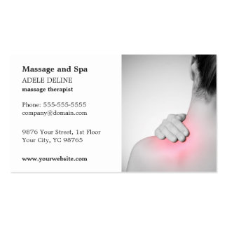 Classic Massage Therapist Business Card Template