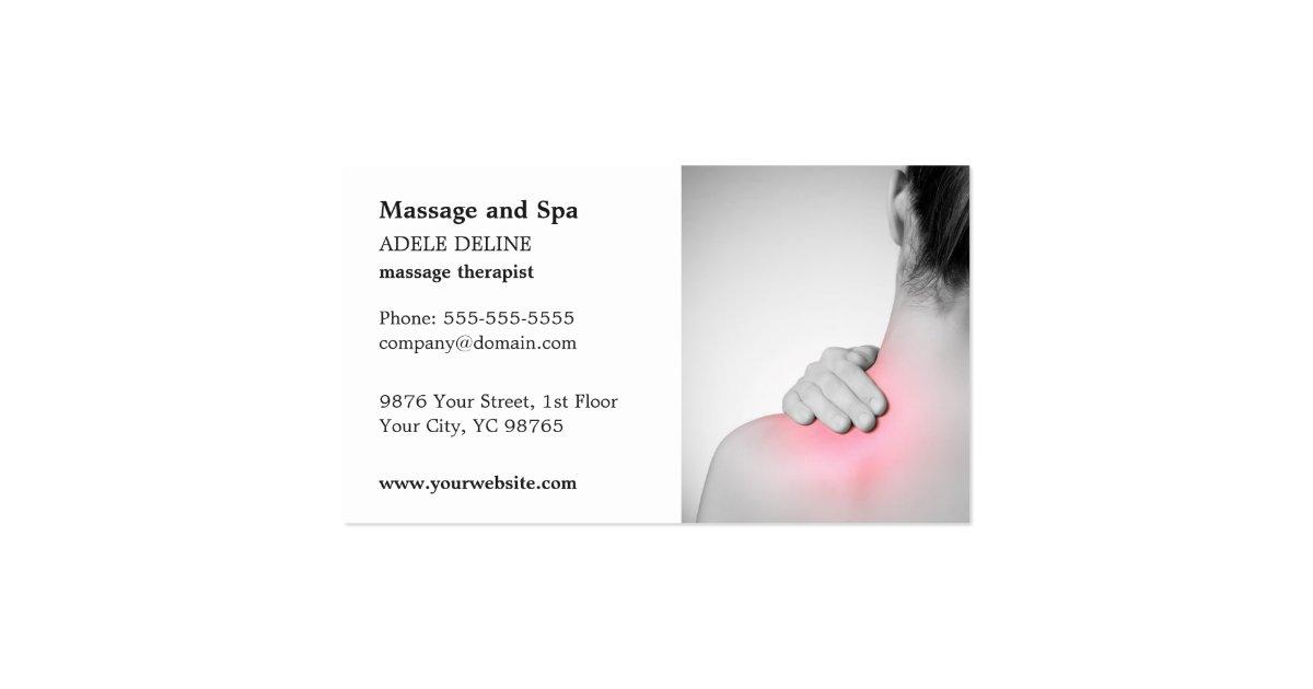 Classic Massage Therapist Business Card Template
