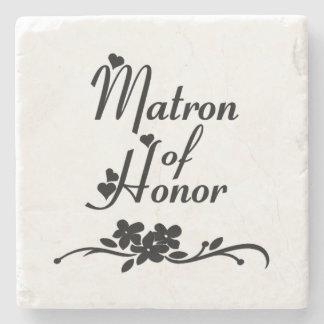 Classic Matron of Honor Stone Beverage Coaster