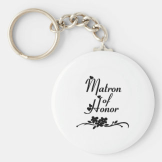Classic Matron of Honor Keychain