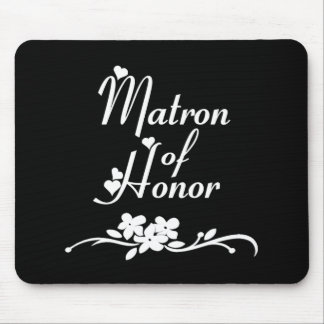 Classic Matron of Honor Mouse Pads