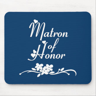 Classic Matron of Honor Mousepads