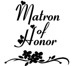 matron of honor bags zazzle