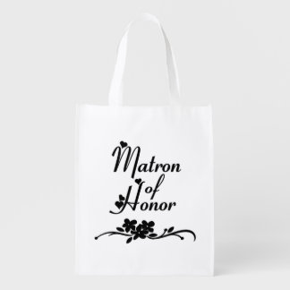 Classic Matron of Honor Reusable Grocery Bag