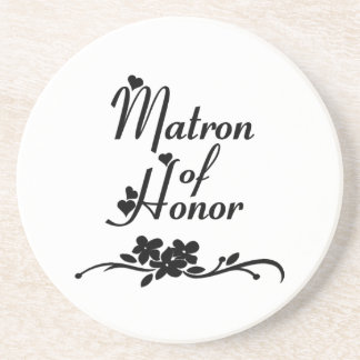 Classic Matron of Honor Sandstone Coaster