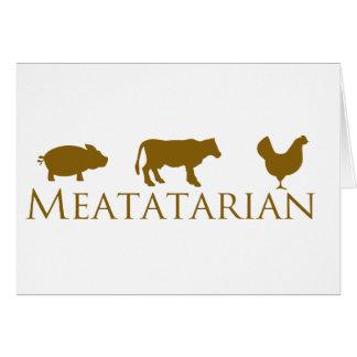 Classic Meatatarian Card