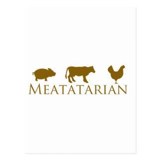 Classic Meatatarian Postcard