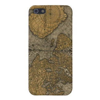 Classic Medieval Antique World Map by Oronce Fine iPhone 5 Cases