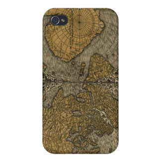 Classic Medieval Antique World Map by Oronce Fine iPhone 4/4S Covers