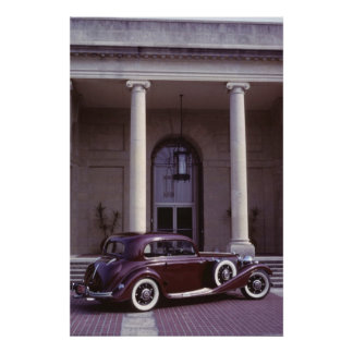 Classic Mercedes Benz 540K Coupe Poster