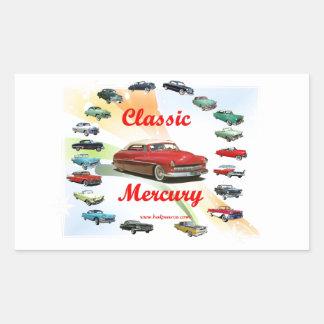 Classic_Mercury_Red Rectangular Sticker